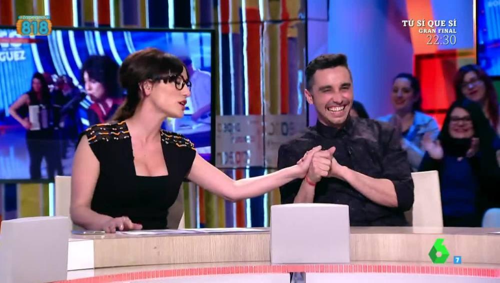 Canco Rodríguez y Ana Morgade, en Zapeando