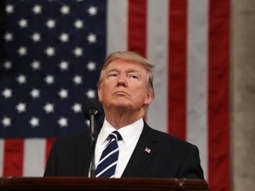 Donald Trump, en su primer discurso ante el Congreso