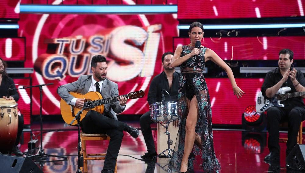 Cristina Pedroche canta en TSQS