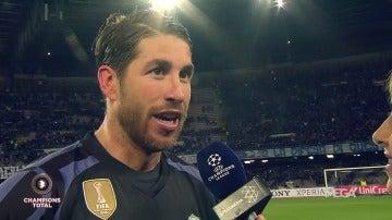 """Frame 10.399722 de: Sergio Ramos: """"¿La UEFA me ha quitado el doblete? No me jodas"""""""