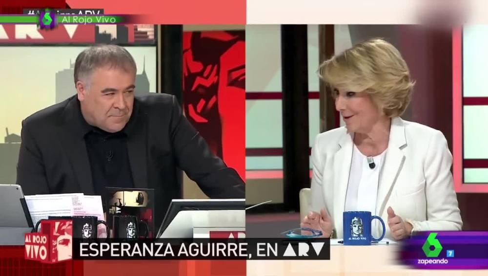 El tenso reencuentro entre Esperanza Aguirre y Antonio García Ferreras