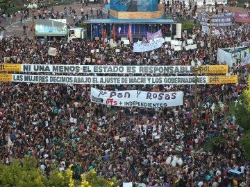 Manifestación por el Día de la Mujer en Buenos Aires