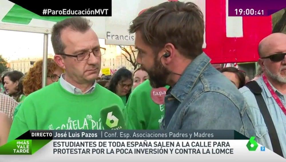 """Frame 15.686115 de: José Luis Pazos: """"Ni se han revertido los recortes, ni el gobierno está haciendo nada por revertirlos"""""""