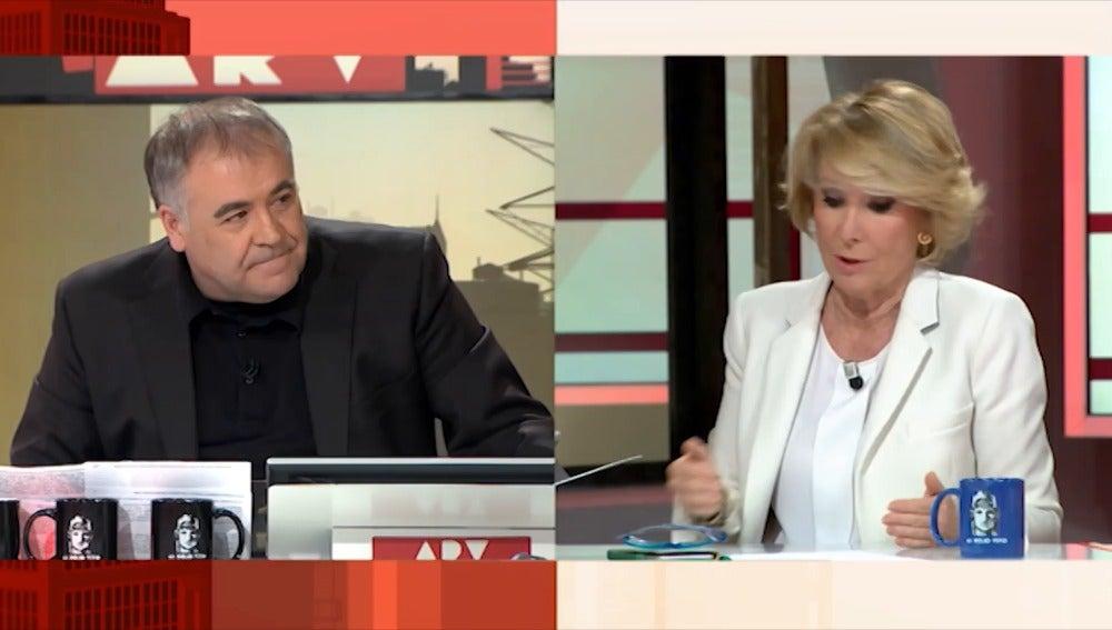 Frame 0.0 de: Esperanza Aguirre asegura que los políticos anglosajones que dimiten no dejan el escaño
