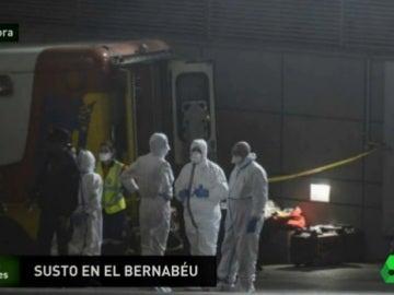 Paquete sospechoso en el Bernabéu