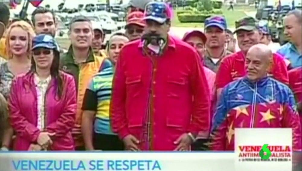 """Frame 20.539841 de: Maduro manda un mensaje en inglés a Donald Trump: """"Abre tus oídos"""""""