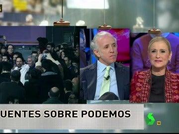 Cristina Cifuentes y Eduardo Inda