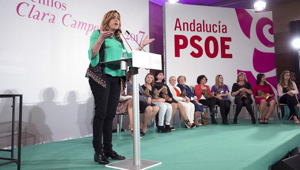 Susana Díaz en los Premios Clara Campoamor