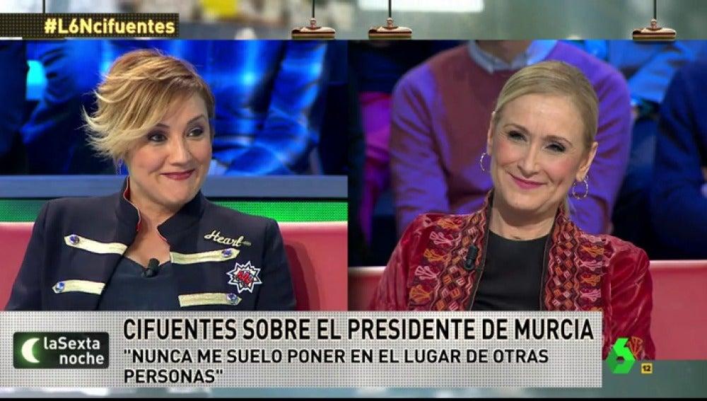 Cristina Cifuentes en laSexta Noche