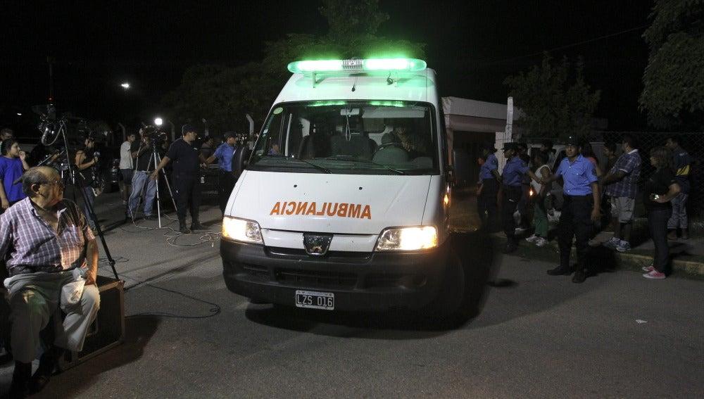 Una ambulancia en Argentina