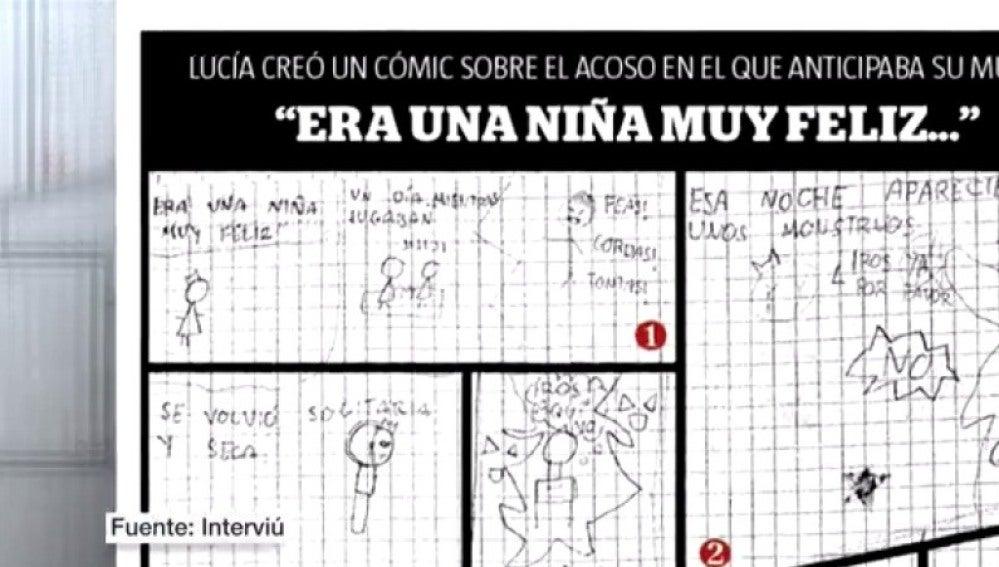 Dibujos de Lucía, la niña que se suicidó