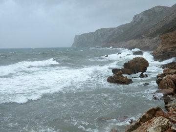 magen del temporal marítimo en la localidad alicantina de Denia