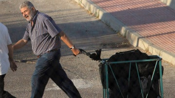 El narcotraficante Laureano Oubiña en una imagen de archivo cuando abandonó la prisión en 2012