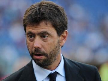 El preisdente de la Juventus, Andrea Agnelli