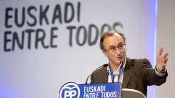 El presidente del PP del País Vasco, Alfonso Alonso