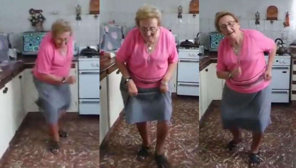 """""""La abuela chispita"""", una mujer de 74 años que revoluciona las redes con sus bailes"""