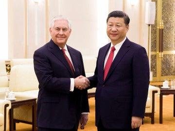 Rex Tillerson y Xi Jinping