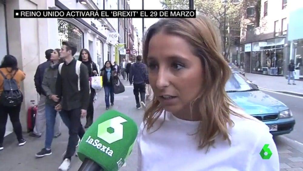 Joven española en Reino Unido