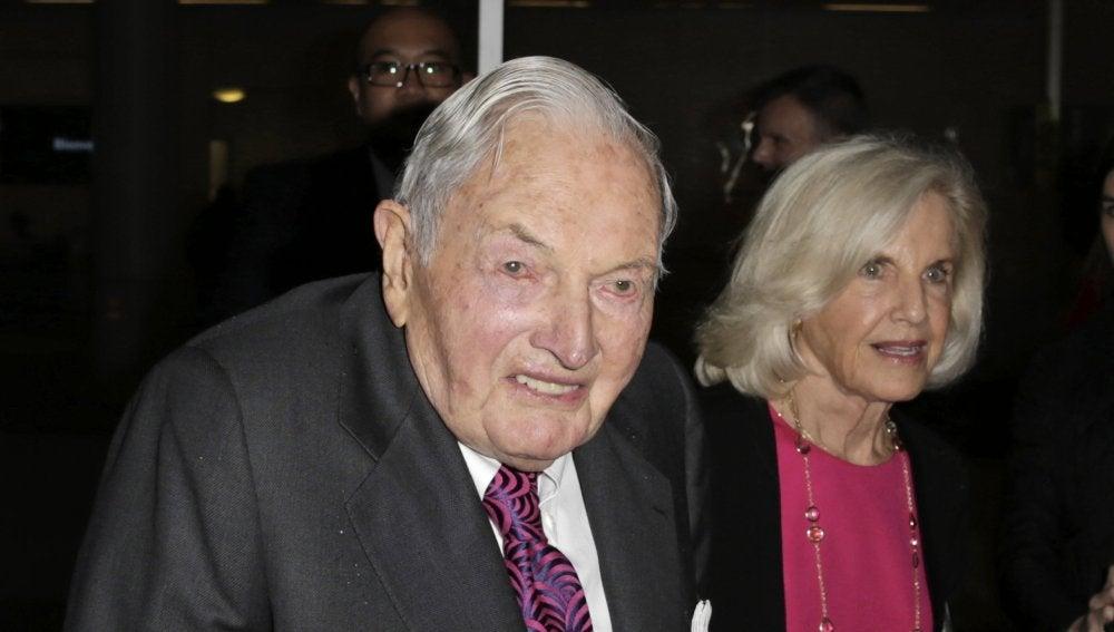 David Rockefeller, influyente filántropo y nieto del fundador de la dinastía Rockefeller