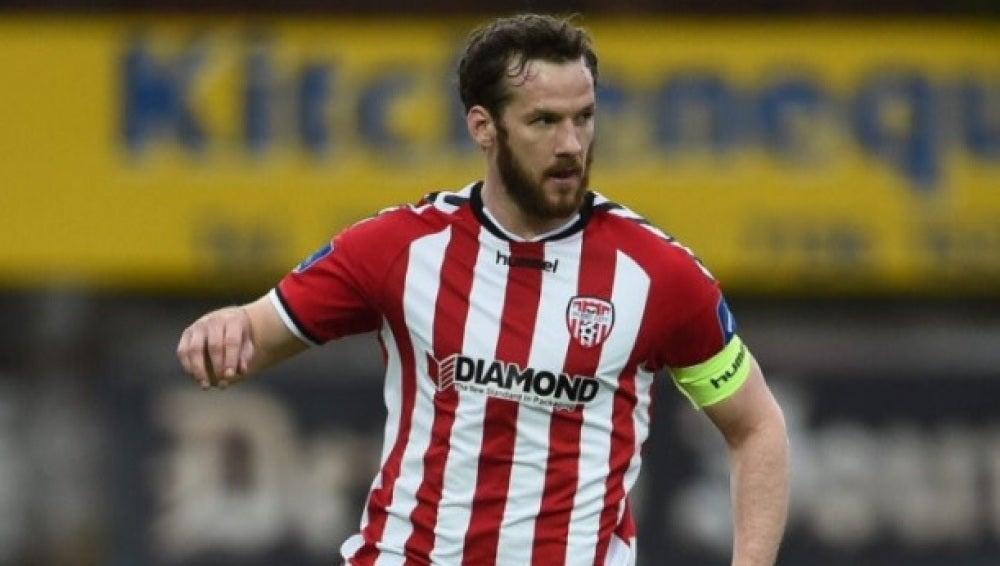 Ryan McBride, el hasta ahora capitán del Derry City
