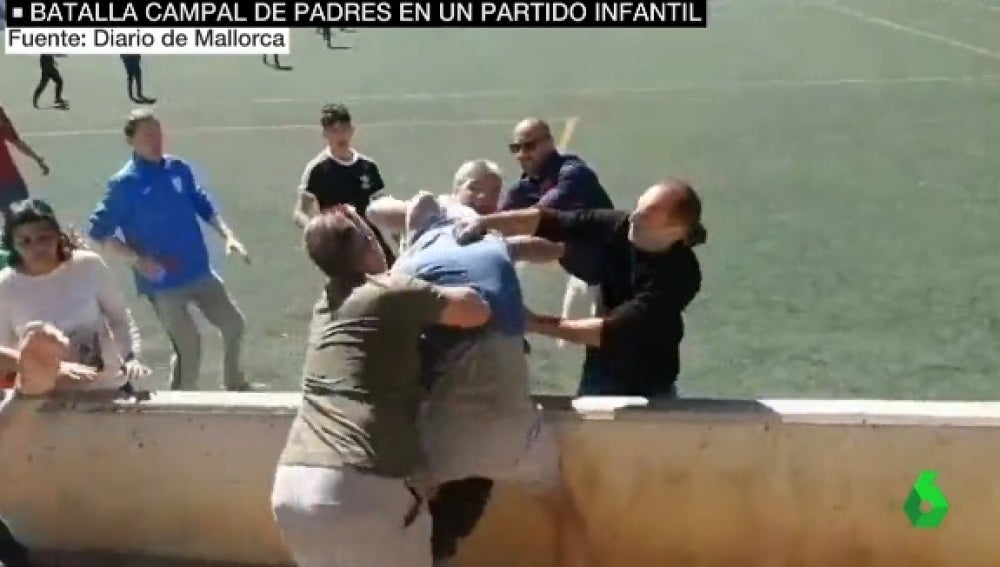 Pelea de padres en un partido de infantiles en Mallorca