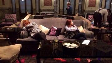 Bailé en los salones, me quedé dormida en un sofá