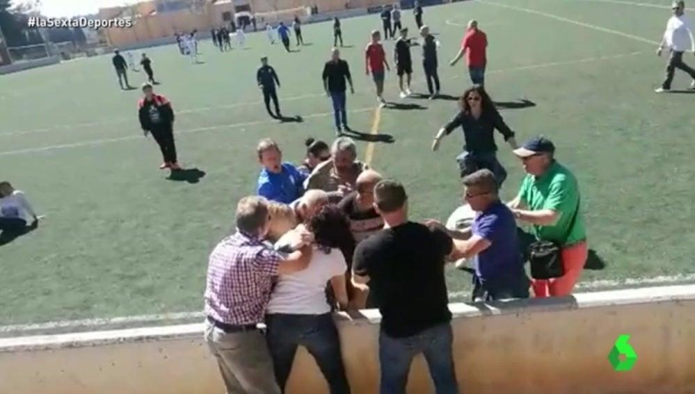 Padres implicados en la pelea durante un partido en Mallorca