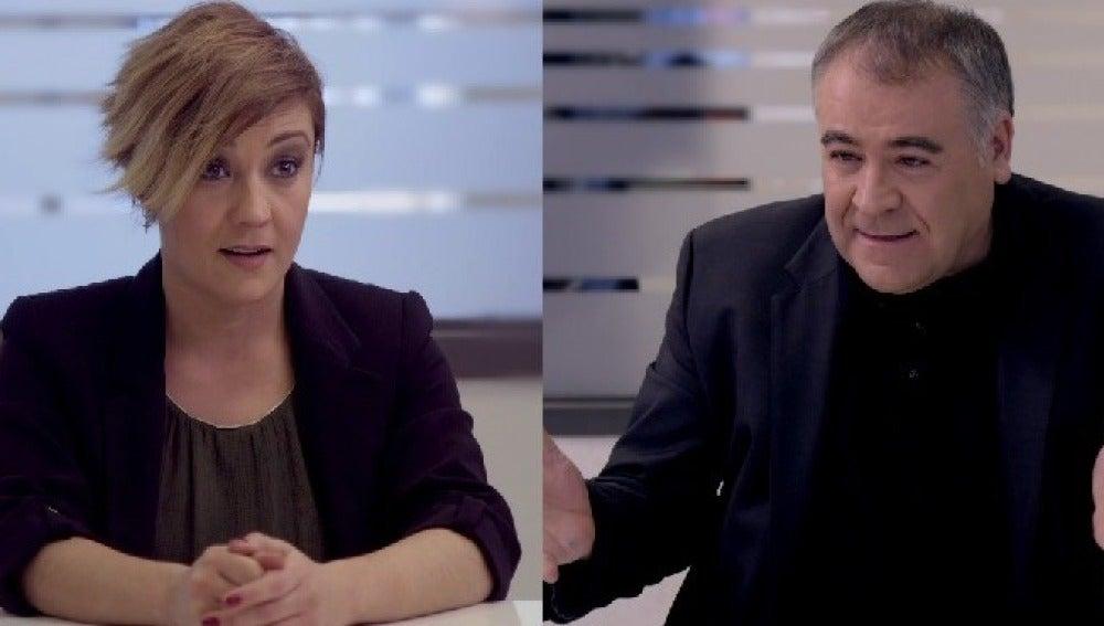 Cristina Pardo y Antonio García Ferreras