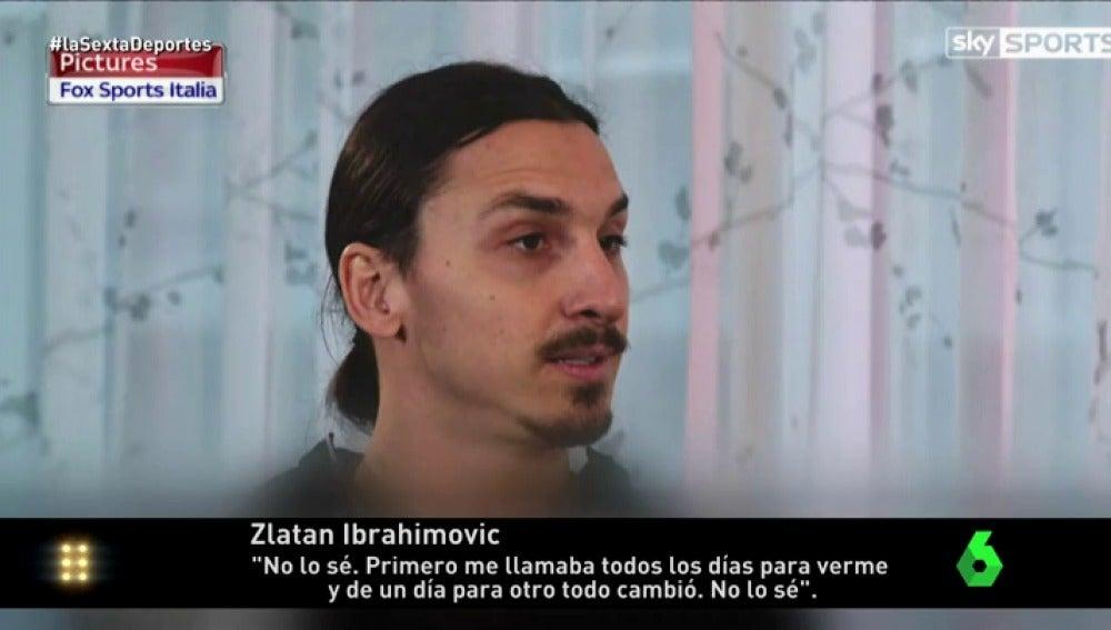 """Frame 16.561665 de: Ibrahimovic vuelve a la carga contra Guardiola: """"Me llamaba todos los días y de un día para otro, todo cambió"""""""