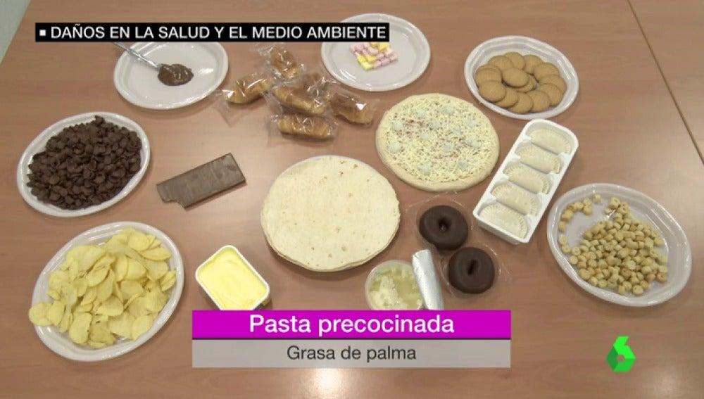 Alimentos que llevan aceite de palma