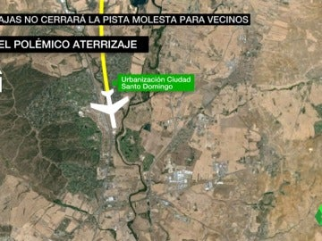 Frame 43.456045 de: El Supremo permite que todos los vuelos de Barajas puedan sobrevolar una urbanización madrileña