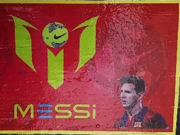 Paquete de cocaína con la cara de Messi