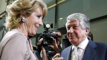 Esperanza Aguirre junto a Arturo Fernández
