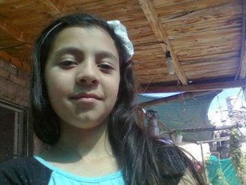 La joven Florencia, de 12 años