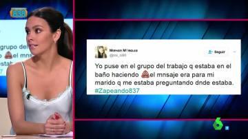 Cristina Pedroche comenta un tuit en Zapeando