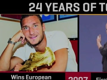 Los 24 años de Totti en la Roma, comparados con la historia