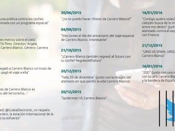 Recopilación de tuits publicado por Iglesias