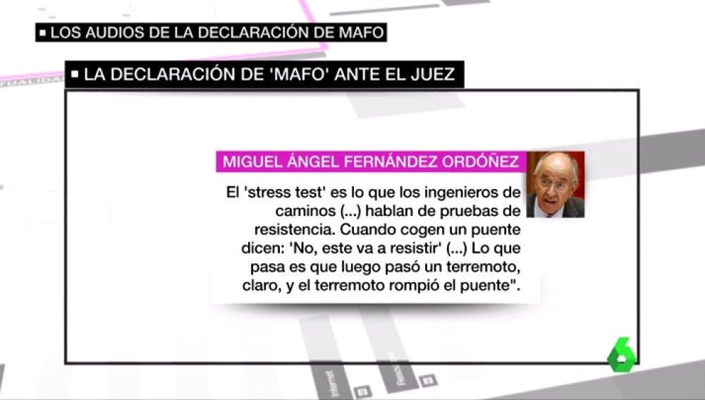 """Frame 21.214535 de: Bankia quebró por una crisis tan imposible de prever como un """"terremoto"""", así justificó 'MAFO' su actuación ante el juez"""