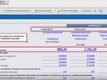 Declaración de la renta por internet