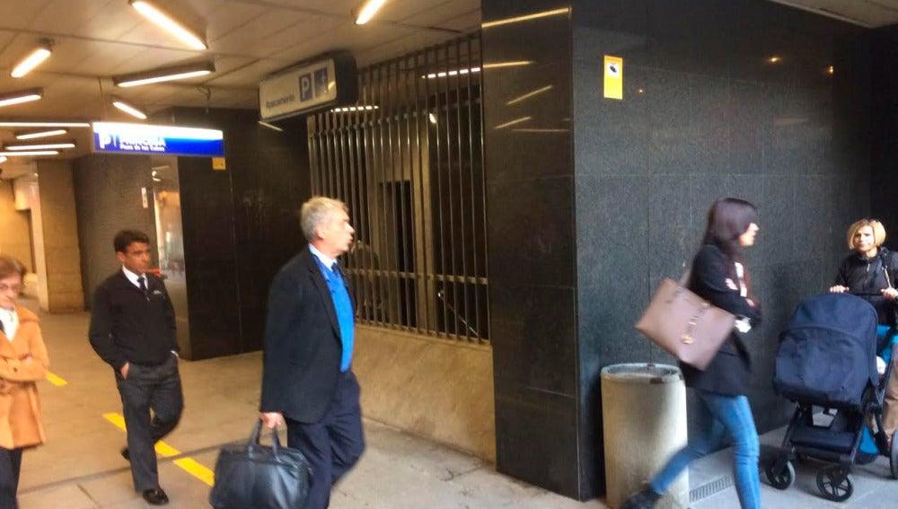 Ángel María Villar a su llegada al  Juzgado de lo social número dos de Madrid