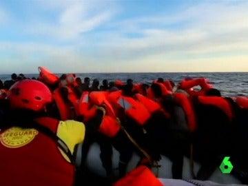 Más de 200 migrantes rescatados frente a las costas de Libia