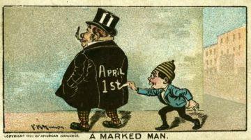 Viñeta de una broma por el April Fools' Day