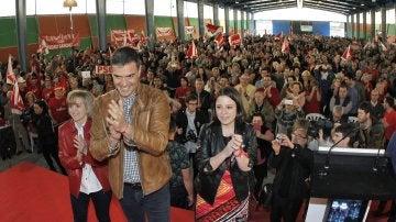 El candidato a la Secretaría General del PSOE Pedro Sánchez