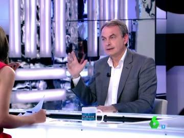 José Luis Rodríguez Zapatero habla en El Objetivo de Ana Pastor