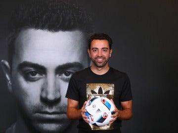 Xavi Hernández en un acto publicitario