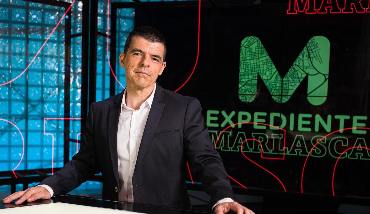 Manu Marlasca en el plató de 'Expediente Marlasca'