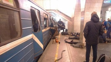 Explosión en el metro de San Petersburgo