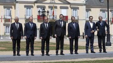 Rajoy recibe a los líderes europeos