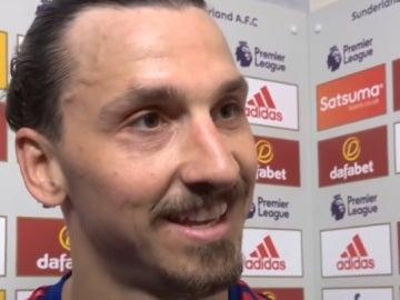 Ibrahimovic durante la entrevista