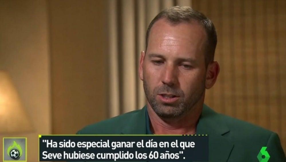 Sergio García, tras ganar el Masters de Augusta